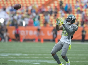 DeSean Jackson practicing before kickoff-  Hakim Wright/TPR®