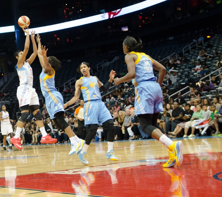 Angel McCoughtry played her heart out in the Dream's tough loss