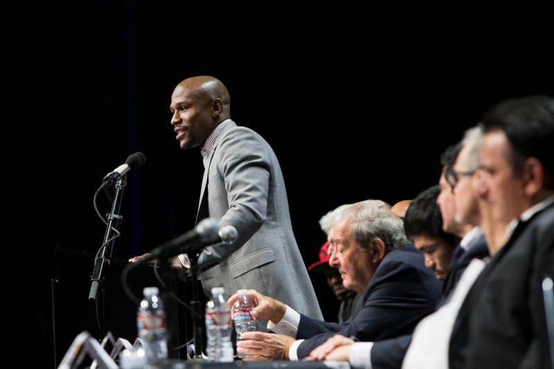 """""""Money"""" Mayweather. (Esther Lin/SHOWTIME)"""