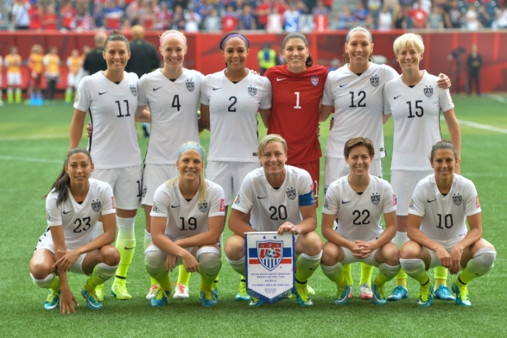USWNT starting eleven vs Australia