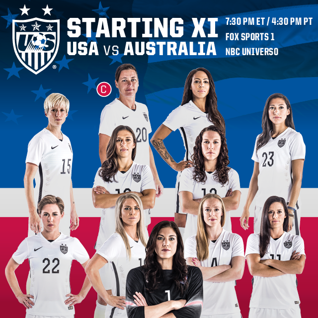 USWNT USA Women's Roster