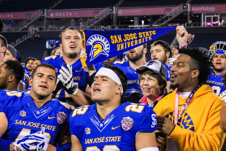 The San Jose State Spartans win the first-ever AutoNation Cure Bowl. (Malcolm Lewis)