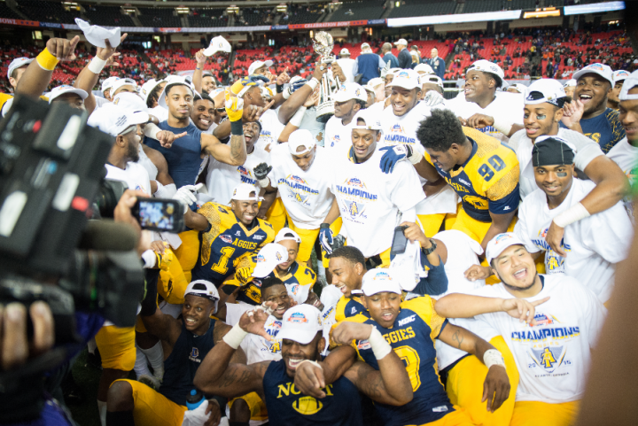 North Carolina A&T, winners of the inaugural Celebration Bowl (Hakim Wright)
