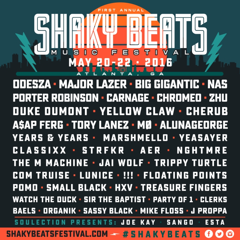Shaky Beats Lineup