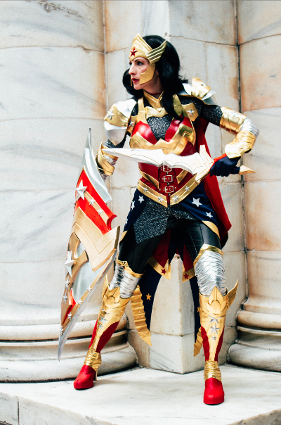 Downtown is safe with Wonder Woman around (Yoh Phillips)