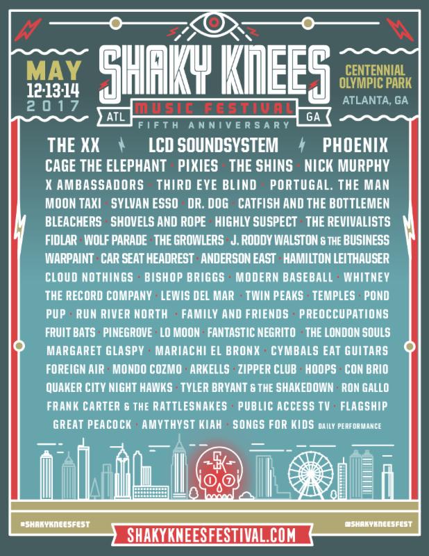 Shaky Knees lineup