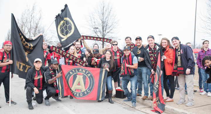 Resurgence was out in full force today in Chattanooga. Resurgence is the official supporters club for Atlanta United FC (Hakim Wright).