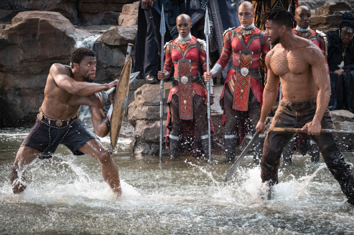 Black Panther and Eric Killmonger