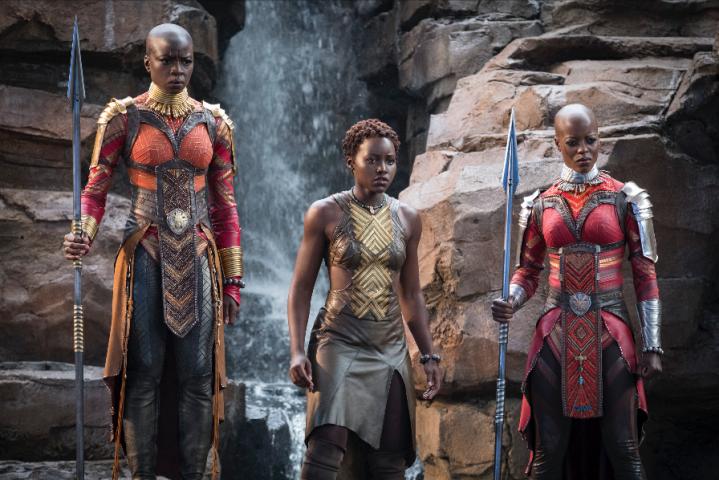 Okoye Lupita and Ayo in Black Panther