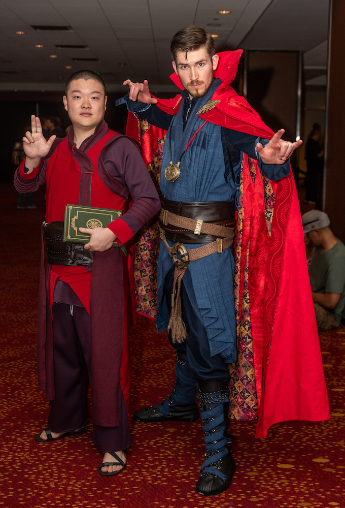 Doctor Strange cosplay dragon con