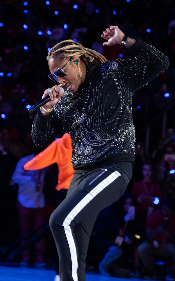 Future performing at Hawks home opener