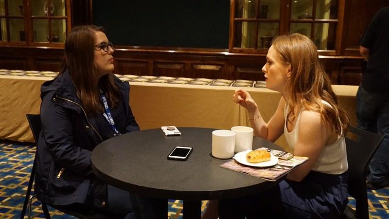 Lauren Brumley with Alex Paxton-Beesley