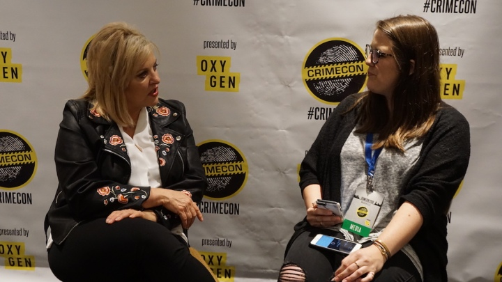 Lauren Brumley with Nancy Grace CRIMECON