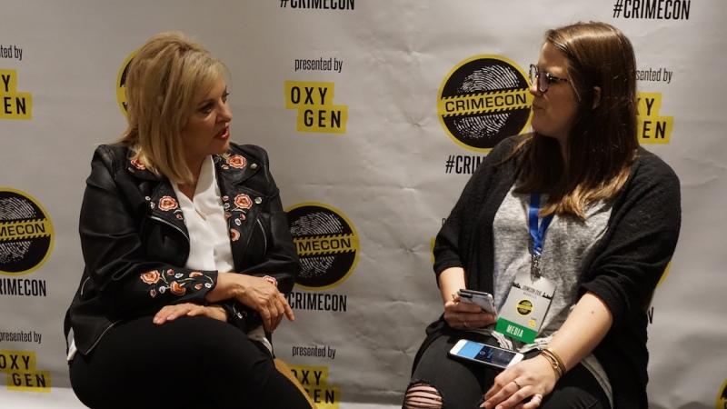 Lauren Brumley with Nancy Grace CRIMECON