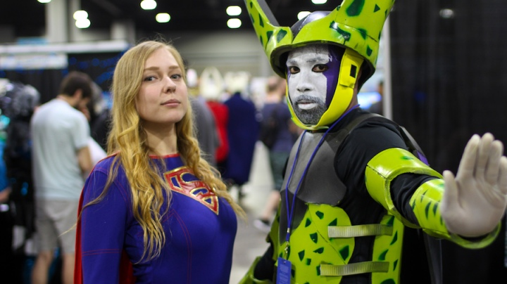 Super girl & Perfect Cell MOMOCON