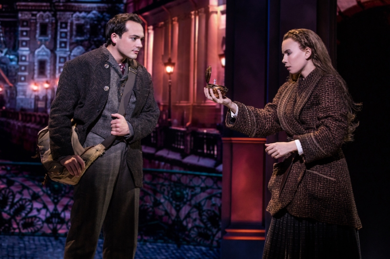 ANASTASIA - Lila Coogan (Anya) and Stephen Brower (Dmitry) in the National Tour of ANASTASIA. Photo by Matthew Murphy, MurphyMade.