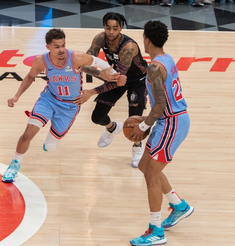Hawks vs Nets Collins 2019 Tre Young