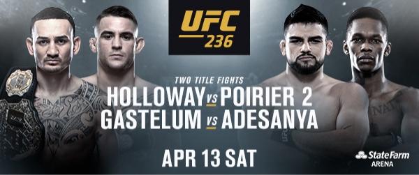 UFC 236 comes to Atlanta April 13, 2019 – THE PEACH REVIEW®