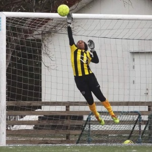 Chanté Sandiford leaping save