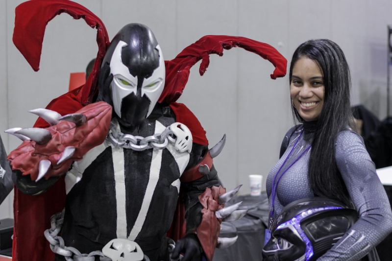 Spawn cosplay Black Panther cosplay Momocon 2019