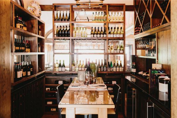 Osteria Mattone wine room.png